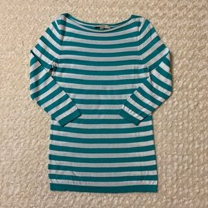 LOFT striped 3/4 sleeve top